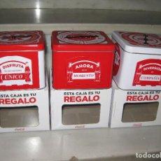Coleccionismo de Coca-Cola y Pepsi: LOTE DE 3 CAJAS COCA COLA. COLECCION COMPLETA.. Lote 141941686