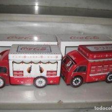 Coleccionismo de Coca-Cola y Pepsi: LOTE DE 2 CAMIONES DE COCA COLA EN CHAPA.. Lote 141942418