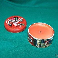 Coleccionismo de Coca-Cola y Pepsi: CAJA METAL VELA COCA-COLA NAVIDAD. Lote 141959434