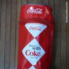 Coleccionismo de Coca-Cola y Pepsi: ESTUCHE DE PLÁSTICO. COCA COLA. LÁPICES, LATAS, PINTURAS...COCACOLA.. Lote 142046158