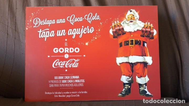 RARÍSIMO CARTEL COCA COLA COCACOLA PAPÁ NOEL,NAVIDAD 2012. CAMPAÑA DESCARTADA. VER DESCRIPCIÓN. (Coleccionismo - Botellas y Bebidas - Coca-Cola y Pepsi)