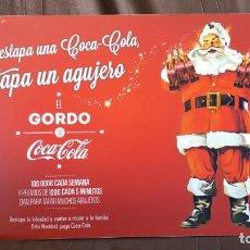 Coleccionismo de Coca-Cola y Pepsi: RARÍSIMO CARTEL COCA COLA COCACOLA PAPÁ NOEL,NAVIDAD 2012. CAMPAÑA DESCARTADA. VER DESCRIPCIÓN.. Lote 142202218