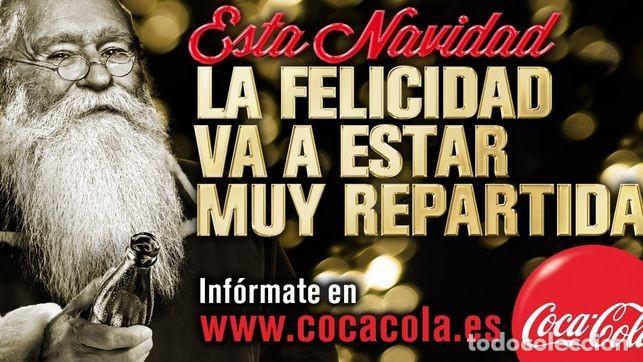 Coleccionismo de Coca-Cola y Pepsi: RARÍSIMO CARTEL COCA COLA COCACOLA PAPÁ NOEL,NAVIDAD 2012. CAMPAÑA DESCARTADA. Ver descripción. - Foto 3 - 142202218