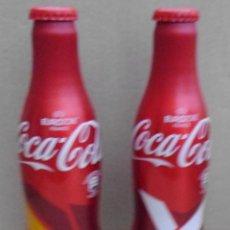 Coleccionismo de Coca-Cola y Pepsi: 2 BOTELLAS DE ALUMINIO DE COCA COLA DE LA EURO COPA 2016 FRANCIA SIN ABRIR EL PRECIO ES `POR LAS 2. Lote 142260114