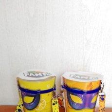 Coleccionismo de Coca-Cola y Pepsi: DOS VASOS FANTA NARANJA LIMON. Lote 142283334