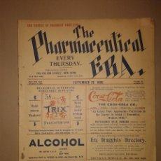 Coleccionismo de Coca-Cola y Pepsi: COCA-COLA ESPECTACULAR ANUNCIO 1898. REVISTA COMPLETA FARMACIA. PRIMER LOGO. SXIX. CON COCAÍNA.. Lote 142751334