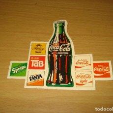Coleccionismo de Coca-Cola y Pepsi: PEGATINA PRODUCTOS COCA-COLA AÑOS 1970-80. Lote 143179558