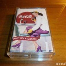 Coleccionismo de Coca-Cola y Pepsi: COCA COLA FOUNTAIN FAVORITES - CINTA DE CASSETTE, 1990.. Lote 143380270