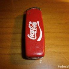 Coleccionismo de Coca-Cola y Pepsi: ENCENDEDOR MECHERO METÁLICO DE COCA COLA - FUNCIONANDO!!!. Lote 143387126