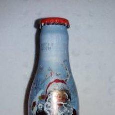 Coleccionismo de Coca-Cola y Pepsi: BOTELLA COCA COLA DE ALUMINIO LLENA NAVIDAD 2008 HUNGRIA. Lote 143794510