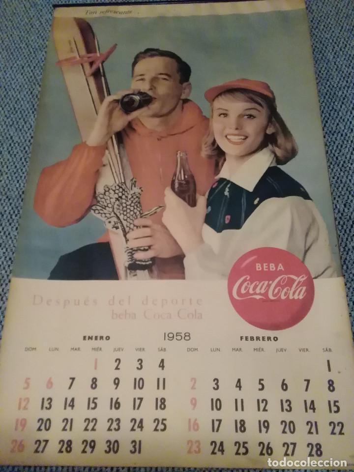 COCACOLA CALENDARIO DE PARED AÑO 1958, COMPLETO, 6 PÁG. , 54X33 CM. (Coleccionismo - Botellas y Bebidas - Coca-Cola y Pepsi)