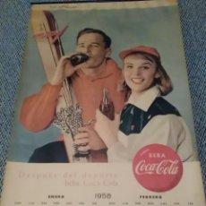 Coleccionismo de Coca-Cola y Pepsi: COCACOLA CALENDARIO DE PARED AÑO 1958, COMPLETO, 6 PÁG. , 54X33 CM.. Lote 144295190