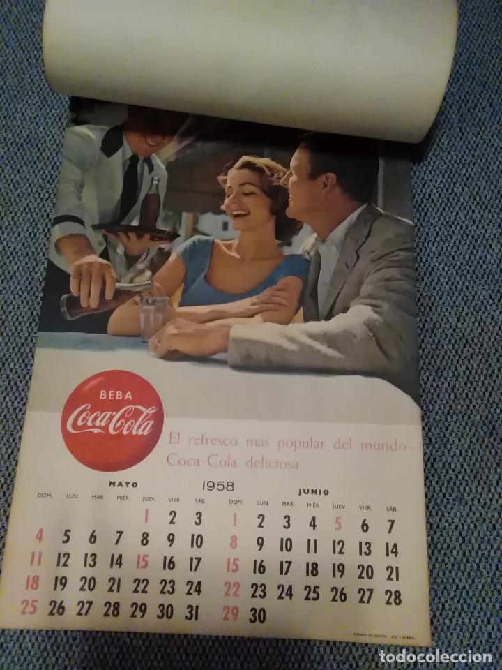 Coleccionismo de Coca-Cola y Pepsi: CocaCola Calendario de pared año 1958, completo, 6 pág. , 54x33 cm. - Foto 3 - 144295190
