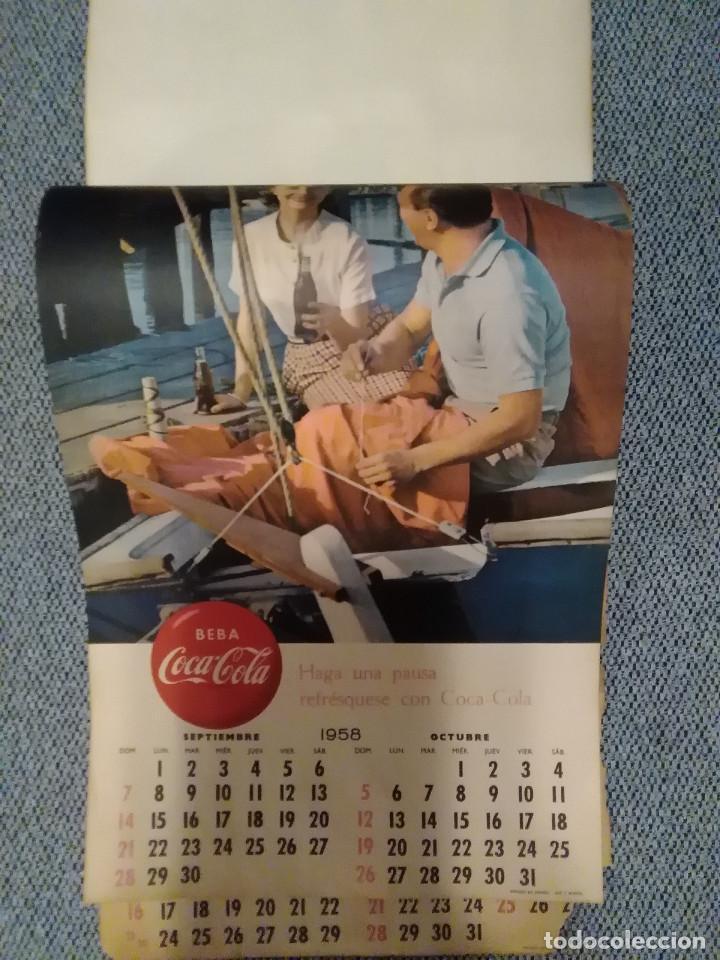 Coleccionismo de Coca-Cola y Pepsi: CocaCola Calendario de pared año 1958, completo, 6 pág. , 54x33 cm. - Foto 5 - 144295190
