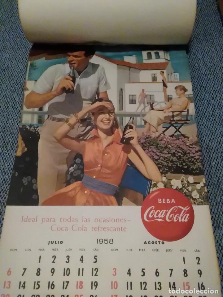 Coleccionismo de Coca-Cola y Pepsi: CocaCola Calendario de pared año 1958, completo, 6 pág. , 54x33 cm. - Foto 4 - 144295190