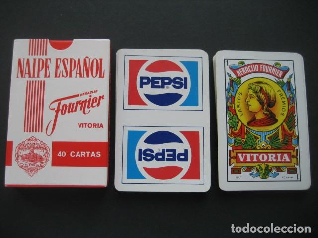 BARAJA ESPAÑOLA FOURNIER. PUBLICIDAD PEPSI (Coleccionismo - Botellas y Bebidas - Coca-Cola y Pepsi)