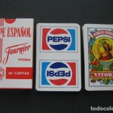 Coleccionismo de Coca-Cola y Pepsi: BARAJA ESPAÑOLA FOURNIER. PUBLICIDAD PEPSI. Lote 144794558