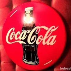 Coleccionismo de Coca-Cola y Pepsi: CARTEL LUMINOSO COCA-COLA ANTIGUO XL 82CM DIAMETRO. Lote 145129814