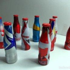 Coleccionismo de Coca-Cola y Pepsi: LOTE DE 9 BOTELLITAS ALUMINIO MINIS DE COCACOLA COPA DEL MUNDO 2014. Lote 145637494