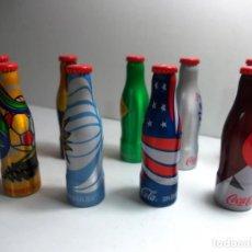 Coleccionismo de Coca-Cola y Pepsi: LOTE DE 9 BOTELLITAS ALUMINIO MINIS DE COCACOLA COPA DEL MUNDO DE 2014. Lote 145637650