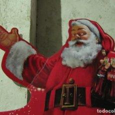 Coleccionismo de Coca-Cola y Pepsi: CARTEL CARTON DURO TROQUELADO DE GRANDES DIMENSIONESCOCA COLA PAPA NOEL SANTA CLAUS NAVIDAD. Lote 146040086