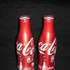 Coleccionismo de Coca-Cola y Pepsi: DOS BOTELLAS COCA COLA 125 ANIVERSARIO. CON ALGUNA MARQUITA. Lote 146289606