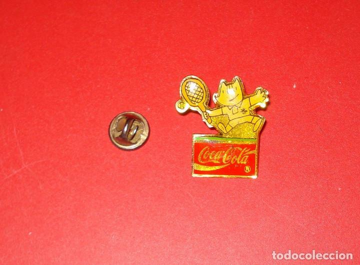 COCA-COLA PIN COBI TENIS JJOO BARCELONA 1992 COKE (Coleccionismo - Botellas y Bebidas - Coca-Cola y Pepsi)