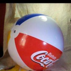 Coleccionismo de Coca-Cola y Pepsi: BALÓN PELOTA DE PLAYA HINCHABLE COCA COLA Y BURGER KING AÑOS 90 SIN USO. Lote 139996093