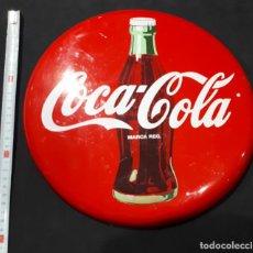 Coleccionismo de Coca-Cola y Pepsi: ANTIGUO CARTEL CHAPA METALICA ANUNCIO DE BAR COCA-COLA . Lote 147892898