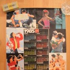 Coleccionismo de Coca-Cola y Pepsi: CALENDARIO DE PARED COCA COLA, 1985, 95,50X61 CM. Lote 147973518