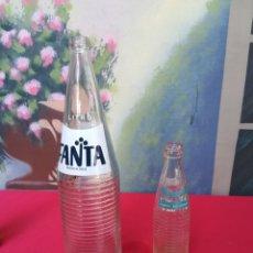 Coleccionismo de Coca-Cola y Pepsi: 2 BOTELLAS ANTIGUAS DE FANTA. Lote 148420028