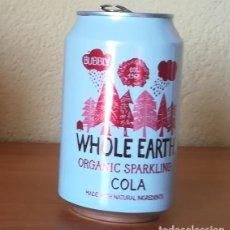 Coleccionismo de Coca-Cola y Pepsi: LATA WHOLE EARTH COLA. BEBIDA ECOLOGICA ORGANIC SPARKLING BOTE CAN. Lote 149562326