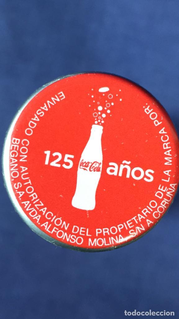Coleccionismo de Coca-Cola y Pepsi: botella coca cola envase aluminio rojo aniversario 125 años 250 ml año 2012 - Foto 8 - 150068790