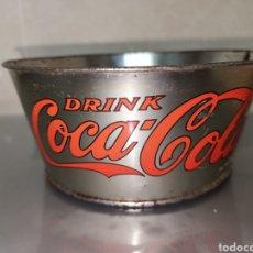 Coleccionismo de Coca-Cola y Pepsi: ANTIGUO CUBO O CUBITERA COCA COLA AÑOS 50' 14X11X6CM RARA. Lote 150099078