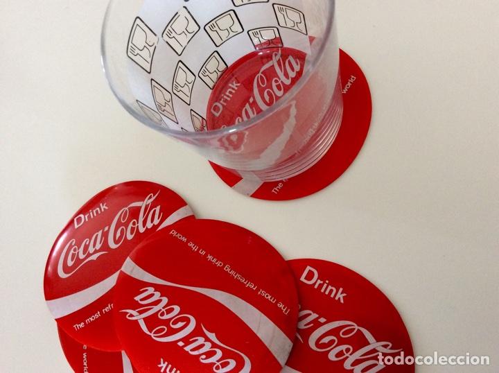 Coleccionismo de Coca-Cola y Pepsi: Envío 6€. Juego de posavasos vintage de COCA COLA EN FIBRA Y PLÁSTICO - Foto 2 - 74233995