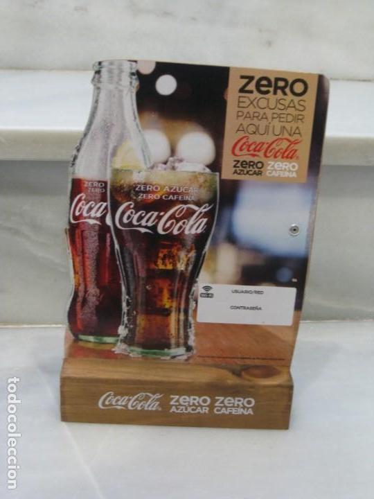 Coleccionismo de Coca-Cola y Pepsi: Expositor Coca Cola zero, zero cafeina - Foto 2 - 150217118