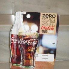 Coleccionismo de Coca-Cola y Pepsi: EXPOSITOR COCA COLA ZERO, ZERO CAFEINA. Lote 150217118