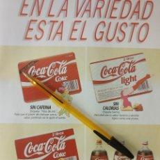 Coleccionismo de Coca-Cola y Pepsi: COCA COLA, EN LA VARIEDAD ESTA EL GUSTO. PUBLICIDAD.. Lote 50128653