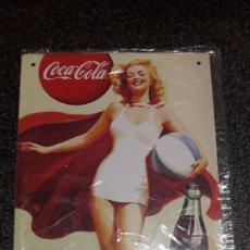 Coleccionismo de Coca-Cola y Pepsi: CARTEL METALICO COCA COLA. Lote 160734020