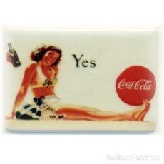 Coleccionismo de Coca-Cola y Pepsi: IMAN PORCELANA NEVERA COCA-COLA. Lote 57508106