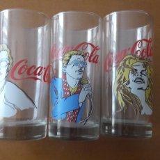 Coleccionismo de Coca-Cola y Pepsi: LOTE TRES VASOS COCA COLA. Lote 151397654