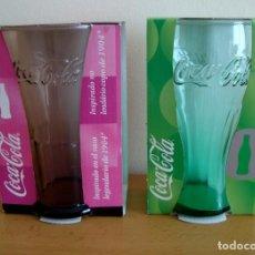 Coleccionismo de Coca-Cola y Pepsi: VASOS COCA COLA ROSA Y VERDE A ESTRENAR. Lote 151509210