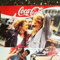 Coleccionismo de Coca-Cola y Pepsi: POSTER CARTEL ORIGINAL DE 1989 COCA-COLA SENSACION DE VIVIR LOS 40 PRINCIPALES FOURNIER 60X90 CMS. Lote 151668126