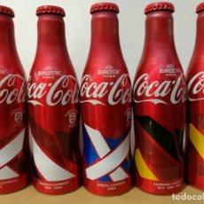 Coleccionismo de Coca-Cola y Pepsi: SET COMPLETO PAISES CAMPEONES DEL MUNDO DE FUTBOL. COCA COLA, COCACOLA. UEFA FRANCIA 2016. LLENAS. Lote 206912075