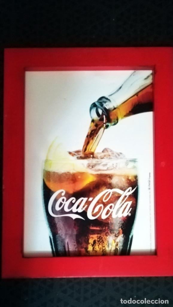 Coleccionismo de Coca-Cola y Pepsi: 4 PIEZAS VINTAGE DE - CARPETA - RELOJ DESPERTADOR-CUADRO Y SACA - PUNTAS DE - COCA-COLA - Año 1982 - Foto 5 - 152836058