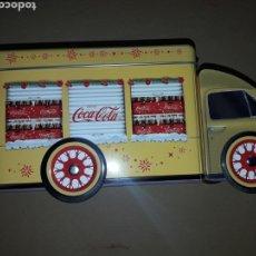 Coleccionismo de Coca-Cola y Pepsi: COCACOLA CAMION CAJA HOJALATA COKE EN SU CAJA NUEVO ORIGINAL. Lote 153078660