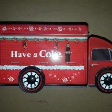 Coleccionismo de Coca-Cola y Pepsi: COCACOLA CAMION CAJA HOJALATA COKE EN SU CAJA NUEVO ORIGINAL. Lote 153079204