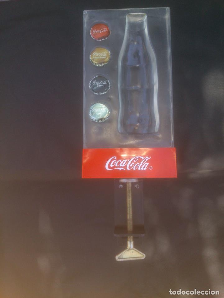 EXPOSITOR LUMINOSO COCA COLA - COCACOLA PARA BARRA - MOSTRADOR CON ABREBOTELLAS (Coleccionismo - Botellas y Bebidas - Coca-Cola y Pepsi)