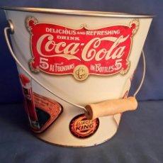 Coleccionismo de Coca-Cola y Pepsi: CUBO DE METAL PROMOCIONAL COCA COLA BURGER KING ¡¡¡NUEVO!!!. Lote 153481926