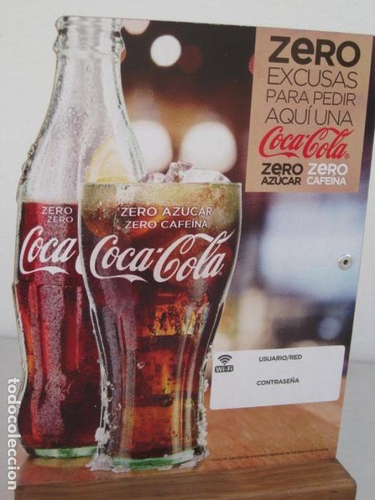 Coleccionismo de Coca-Cola y Pepsi: Expositor Coca Cola zero, zero cafeina - Foto 2 - 153720422
